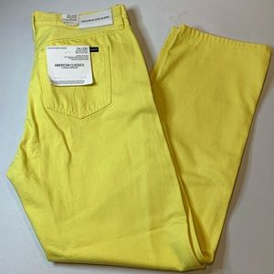 Mens Calvin Klein Straight Fit Yellow Jeans Sz 33